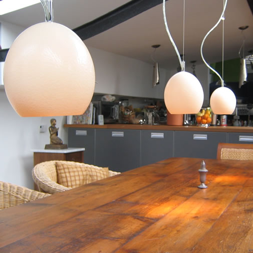 Modern mini-pendant lights and hanging fixture design.