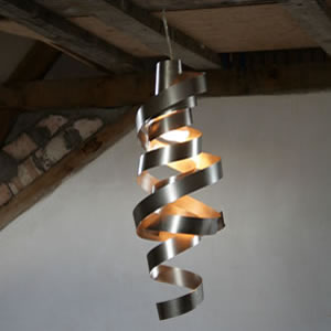 Design stainless steel pendant light and decorative ceiling hanging fixture.